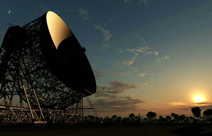 Jodrell Bank - twilight photo