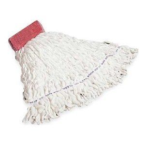 Mop, Clean Room, Large by Rubbermaid. $66.96. Wet. Rubbermaid Looped-End Wet MopsStitched tailbandMultiple colors help avoid cross contaminationLaunderable unless otherwise notedCleanroomNonlinting, nonfraying mops are designed for use in Class 10,000 and higher industrial applications. Woven rayon/polyester blend. Preshrunk for long life.Clean Room Mop, Size Large, Headband Size 5 Inches, Color White, Class 10000 Certified, For Clean Application
