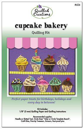 Quilling Kit : #424 Cupcake Bakery