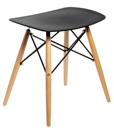 Nowoczesny stołek Pixel w kolorze czarnym - Meble sklep internetowy OneMarket