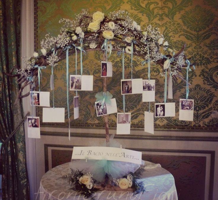 Tableau de mariage#tiffany#il bacio nell'arte#love#tironibrunofiori
