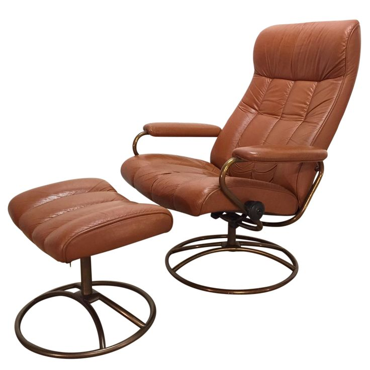 Vintage Ekornes Stressless Chair And Ottoman