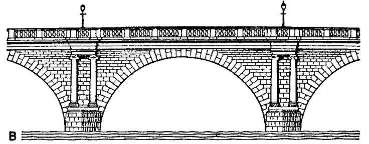 Image result for stone bridge clipart black and white