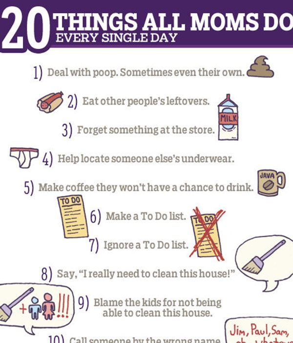 20 Things All Moms Do Every Single Day.