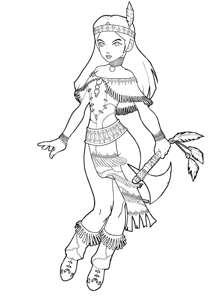 sioux coloring pages - photo#46