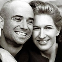 Andre Agassi and Steffi Graff famous former tennis players and known for their philanthropic efforts