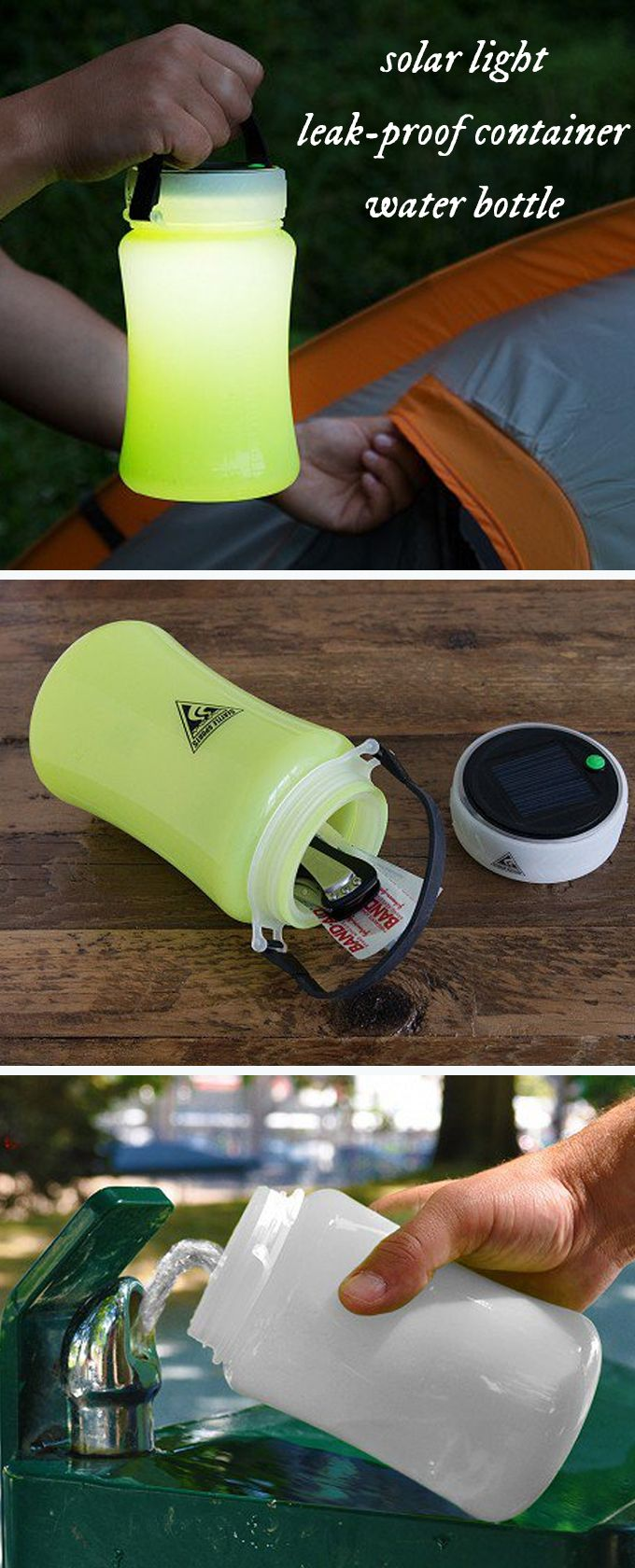 Charge, store, drink, and light up the night with one deceivingly simple device. FireWater is a waterproof storage container, solar powered light, and water bottle all in one. The lantern loads up on the sun's energy or can be charged by its USB port.