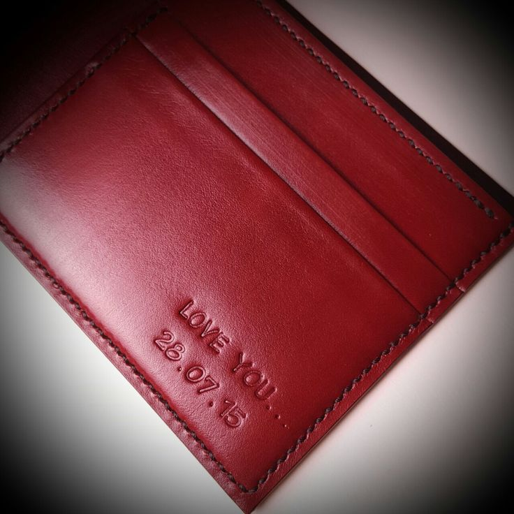 Handmade with LOVE - H'annson Leather Shop - personalized leather embossing