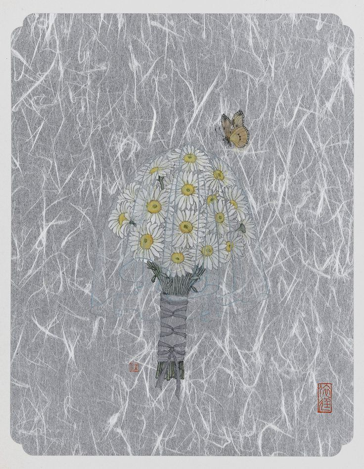 Eve Leung, Daisy 2, 2015, Ink and colour on cardboard, 40x50cm each, Reverie | Artify Gallery