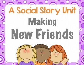 Making New Friends: a social story unit. Does your student choose to work alone? Does he watch the other kids while swinging. Making new friends is not intuitive. It is a skill that kids need to be taught and coached in. Many kids will choose to play alone, not because they are anti-social, but because they don't know how to enter a circle of friends who are already playing together.