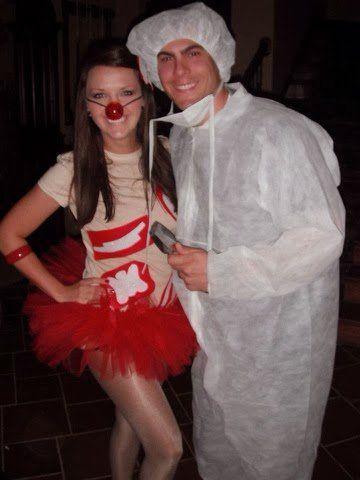 Operation Costume Halloween couples costume DIY fall creative couples costume