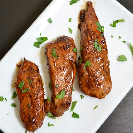 Honey Balsamic Chicken Tenders. The sauce is amazing !! Easy to make, add some steam veggies and a yummy fast dinner !!