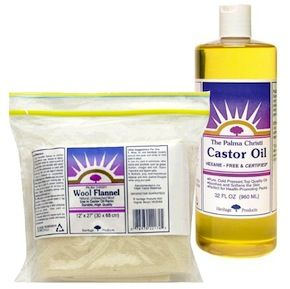Castor Oil Packs. I'd actually heard about this from my sister-in-law to use for stomach pain. Stumbled across it again while researching lymphathic system detox. Placing it over the liver area can supposedly stimulate circulation and detoxification. Can't wait to try it!