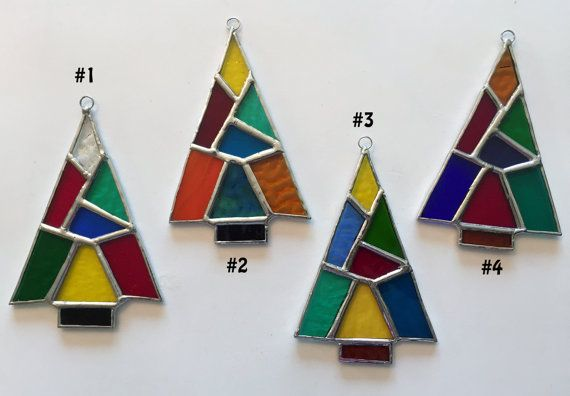 Handmade Stained Glass Patchwork Christmas Tree by QTSG on Etsy