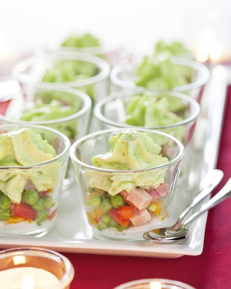 Salade de petits pois, espuma vert