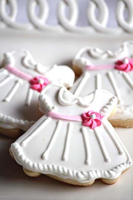 A Dozen Cute Little White Dress Vanilla Sugar by CraftedCookies, $36.00