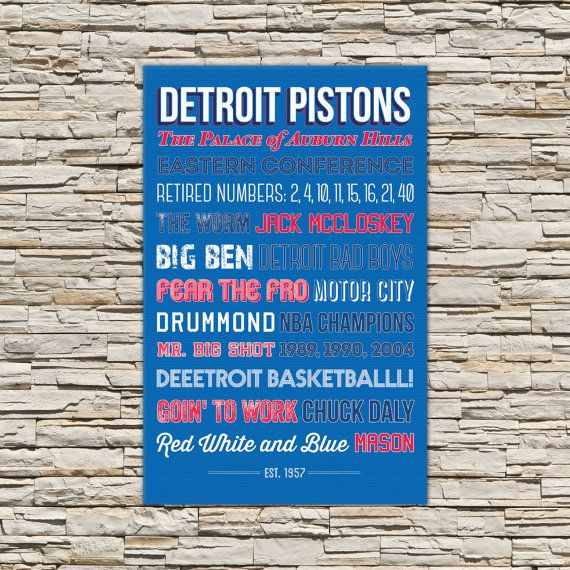 Detroit Pistons  - Canvas or Poster