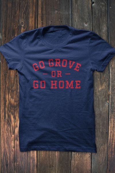 Ole Miss Fans, Show off your school pride in this unique Go Grove or Go Home T-Shirt. Available in red distressed print on navy blue t-shirt.  Our shirts are printed on Bella + Canvas shirts. #bourbonandboots