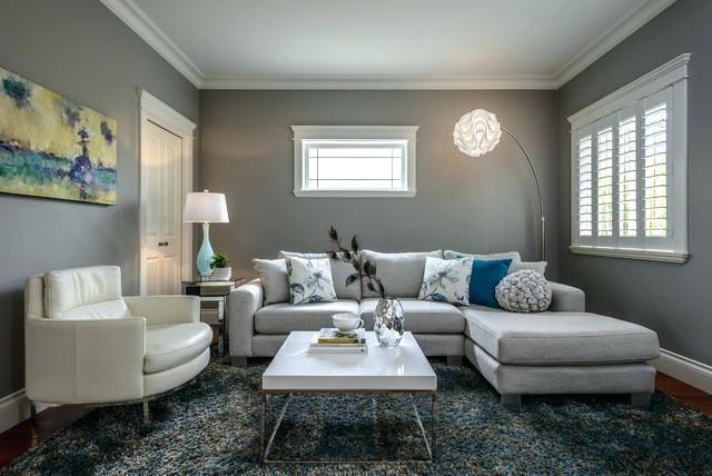 Wohnzimmer Graues Sofa Wandfarbe