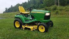 "John Deere X748 Utility Garden Tractor Diesel 24hp Hydro 4x4 54"" Belly Mowerfinance tractors www.bncfin.com/apply"