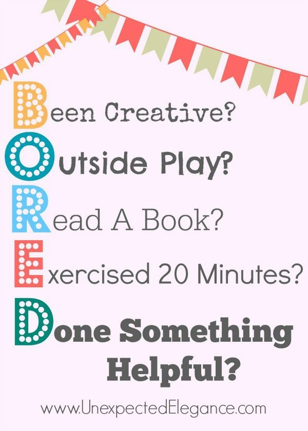 1000 Ideas About Bored Kids On Pinterest Boredom