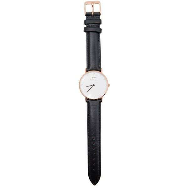 Women's Daniel Wellington Classy Sheffield Watch ($199) ❤ liked on Polyvore featuring jewelry, watches, accessories, bracelets, fillers, quartz movement watches, stone jewelry, water resistant watches, daniel wellington and leather-strap watches