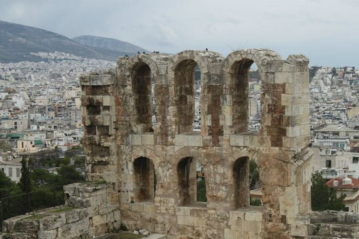The Acropolis overlooking Athens