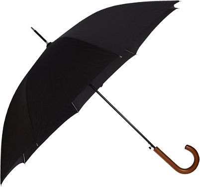 Barneys New York Automatic Umbrella -  - Barneys.com// Classic black umbrella with wooden curve handle