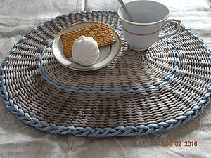 Мастер-класс: плетение сервировочных ковриков из бумажных трубочек   Ярмарка Мастеров - ручная работа, handmade