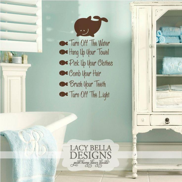 Bathroom Checklist Lacy Bella Designs Personalized Vinyl Lettering And