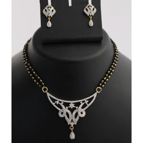 Sparkling Mangalsutra Necklace Set