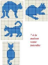 """Résultat de recherche d'images pour """"chat au point de croix"""""""
