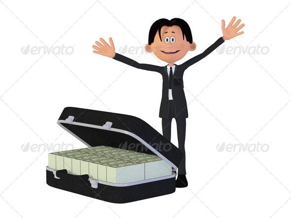 Cartoon businessman with a lot of money ...  3d, a lot of, banknote, bill, business, businessman, career, cartoon, case, cheer, clipart, competition, credit, deserve, dollar, euro, financial, full, fun, funding, happy, investment, job, labor, laugh, lottery, man, manager, money, much, occupation, offer, offering, office, pension, people, pocket, prevention, profit, raffle, rich, saving, savings, success, toon, trainee, wealth, winner, workplace