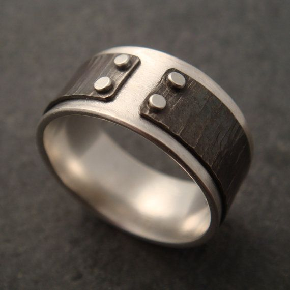 riveted with hammered titanium