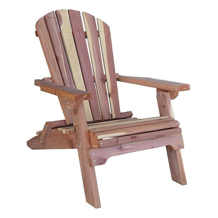 AmeriHome Folding Adirondack Chair, Brown