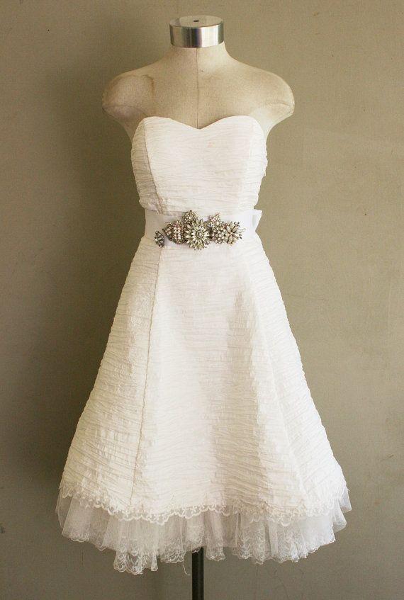 I do I do  Short Wedding Dress  Reception Dress  by CallMeChula, $52.00