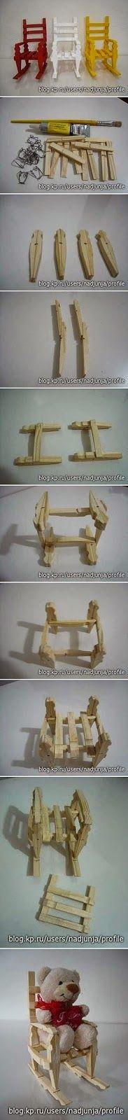 Okulöncesi Sanat ve Fen Etkinlikleri: Mandallar ile Sallanan Sandalye Yapımı