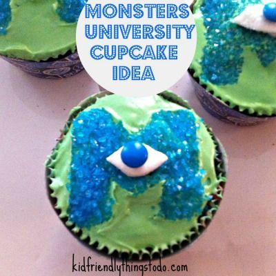Monsters University Cupcake Idea - A Fun Food Idea!