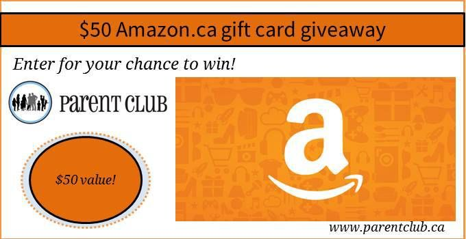 $50 Amazon.ca gift card Giveaway