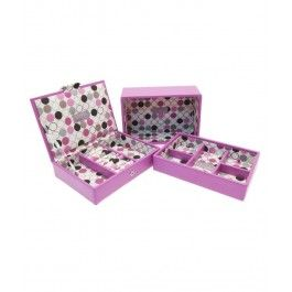 Incanta-ti iubita cu un set 3 mini cutii bijuterii, Moulinette de la Stackers, un cadou practic si feminin pentru femeia nascuta in capricon