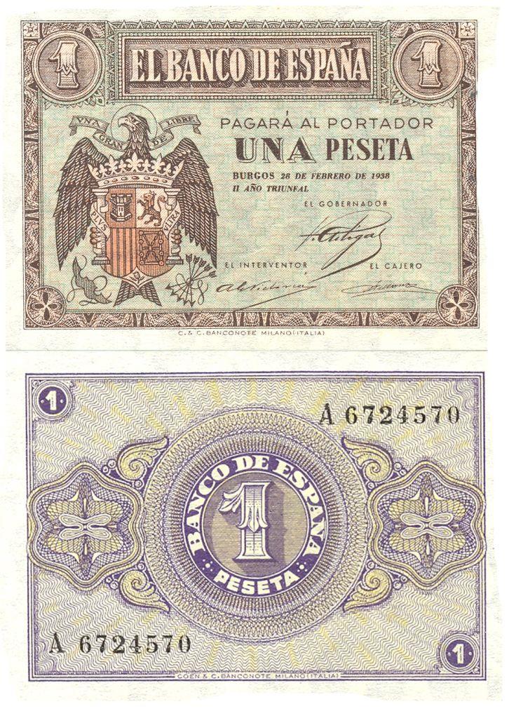 1 peseta 1938-Burgos