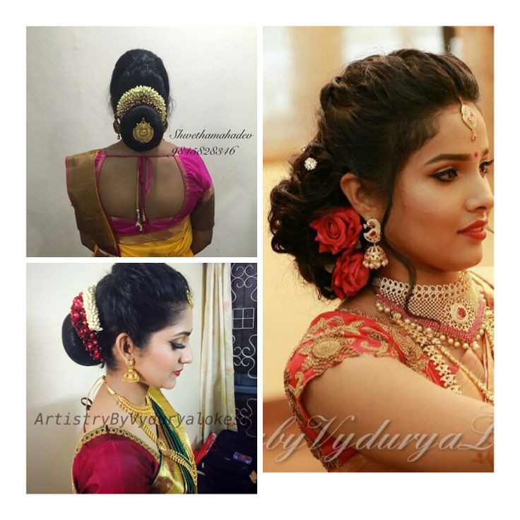 What a beautiful large low bun with gajra & juda pin! Care however should be taken before adopting such hairstyles, as due to it's high static charge, it will cause phlegm to move up in the throat, ca