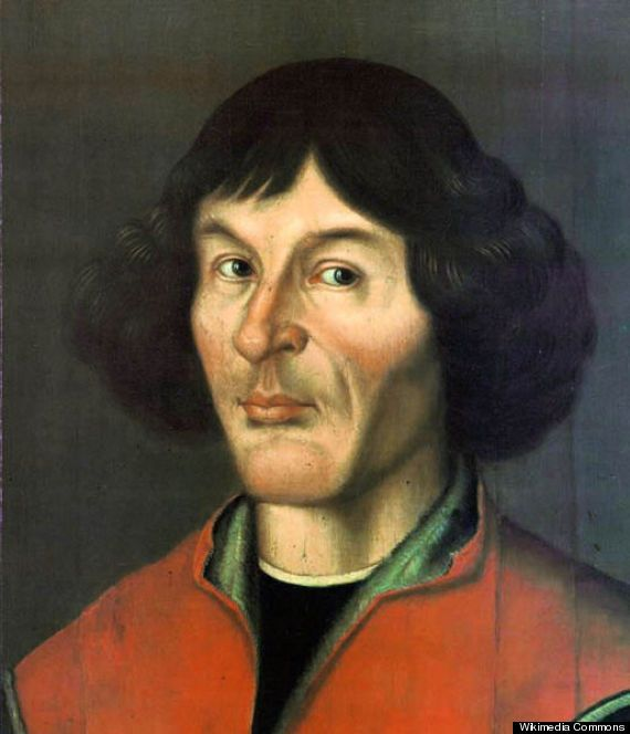Fact #3. Copernicus WASN'T the first to place it in the center of our solar system. In fact, Greek astronomer Aristarchus of Samos proposed the first known heliocentric (sun-centered) model in the third century B.C., nearly 1,800 years before Copernicus did. Portrait of astronomer Nicolas Copernicus, 1580.