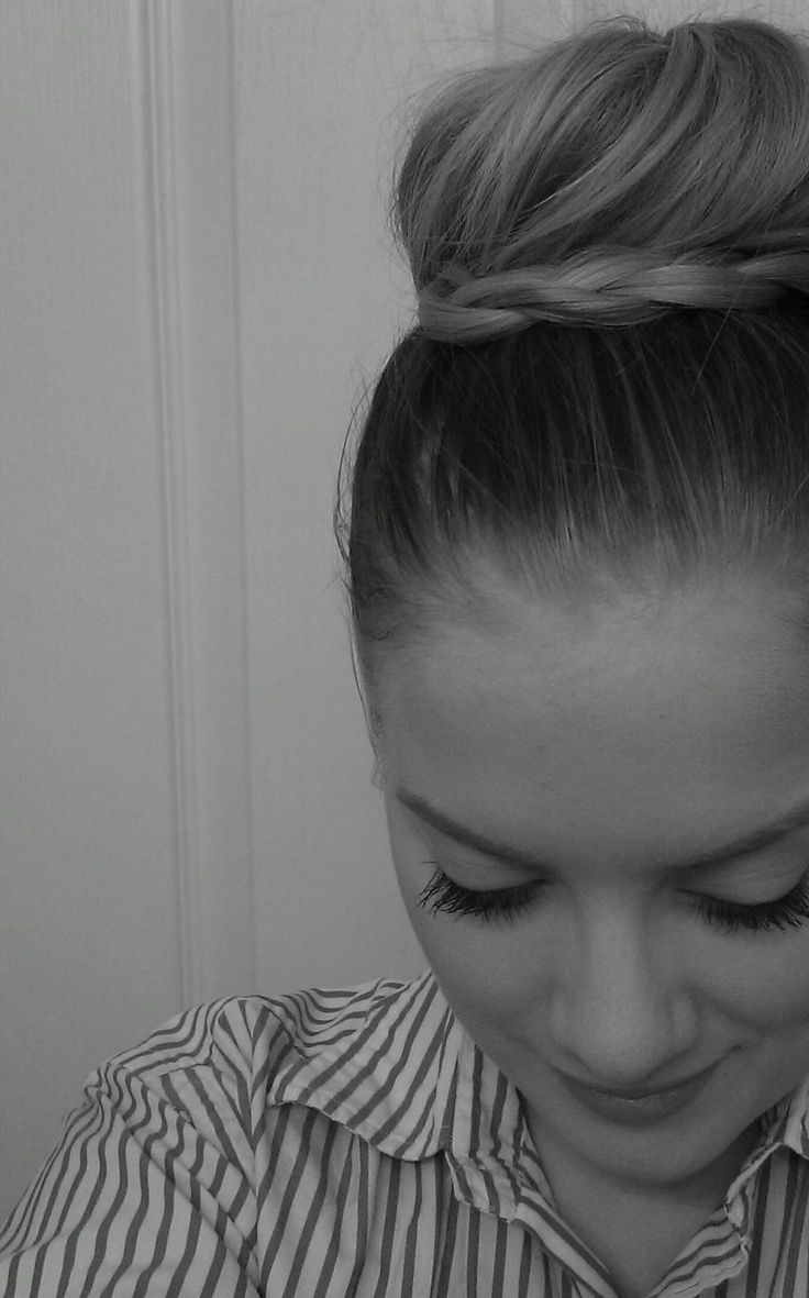 cute braid bun