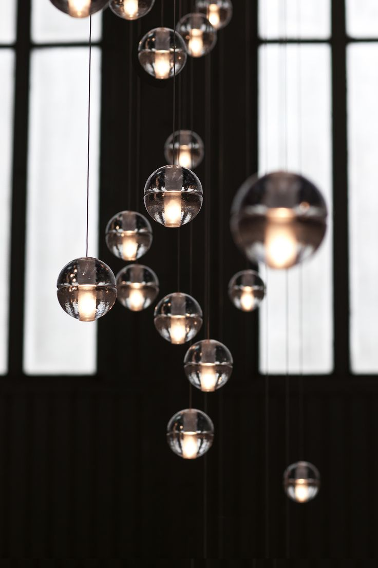 Bocci LED Pendant Replica Lights by Omer Arbel is beautiful efficient  designer crystal clear round glass ball suspension lamp, delivery Australia  wide