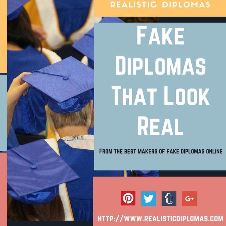 7 best Realistic Diplomas images on Pinterest - copy university diploma templates
