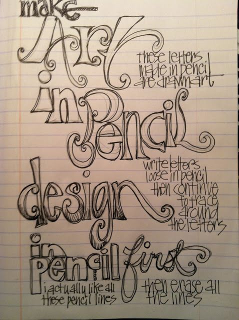 Whimspirations...Beautiful inspirations abound on this site, and here's a little lettering tutorial.