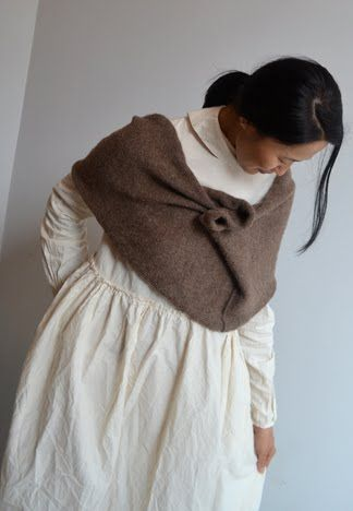 "might this be something to knit from the mohair? a kind of ""shoulder cowl"""