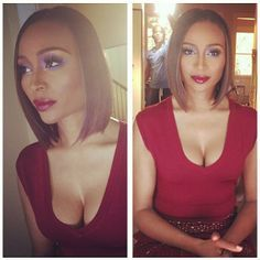 cynthia bailey's hairstyles | Cynthia Bailey and this bob, though! Fab job @startakihair | # ...