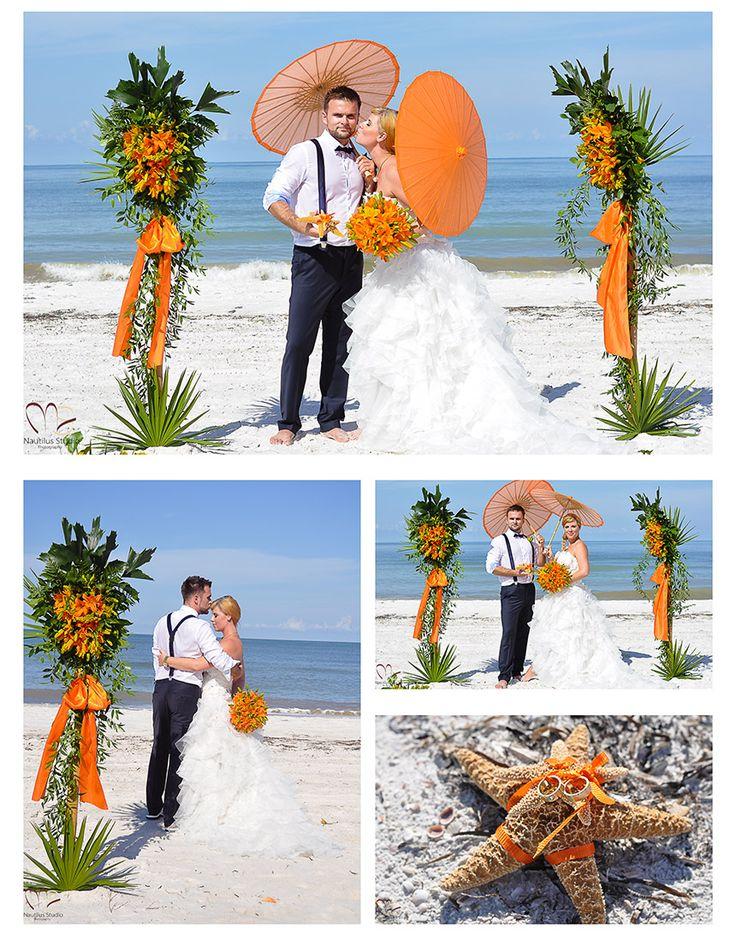 69 best beach wedding and wedding ceremony decoration images on fresh flower beach wedding decoration on bamboo poles junglespirit Choice Image
